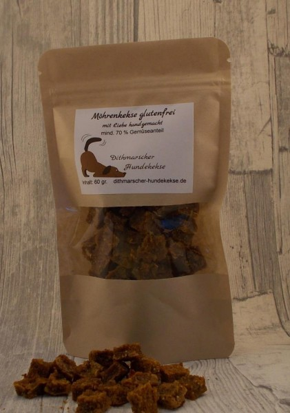 Dithmarscher Hundekekse Möhrenkekse glutenfrei 60 gramm